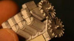 紙でつくられた極小「V8エンジン」がすごい。本物同様に動きます(動画あり)