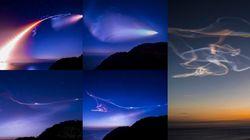 ロケット雲の美しすぎる連続写真