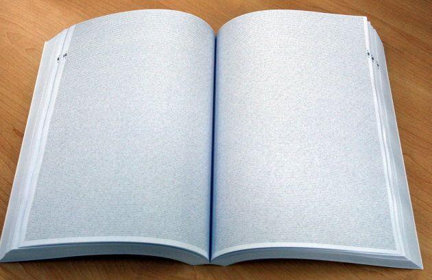 全ページにびっしりと数字が。写真だと、細かすぎてトーンにしか見えない。