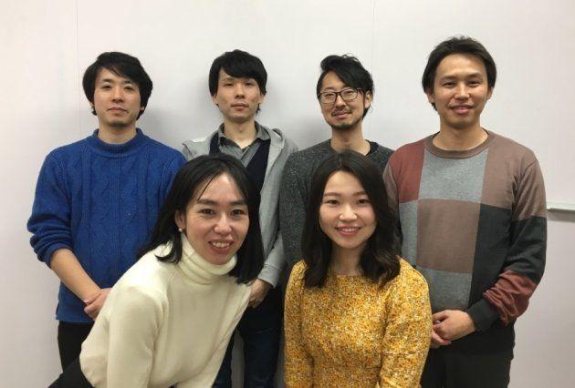プロジェクトメンバーの6名。左から後列・中島さん、島川さん、三冨さん、坂本さん、前列・山根さん、大和田さん