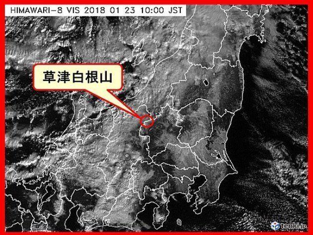 気象庁によりますと、草津白根山の主峰、本白根山では、本日(23日)09時59分に鏡池付近で噴火が発生したもようです。