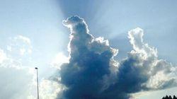 ゴジラのような雲が東北道に現れた。これはすごい......(画像)
