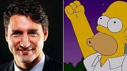 「ザ・シンプソンズ」、カナダのトルドー首相をネタに 過去にはトランプ大統領誕生の予言も
