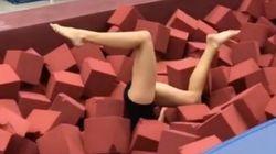 時よ止まれ!体操選手が演技中に静止した動画がすごい