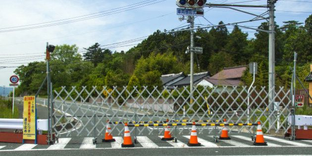 TOMIOKA, JAPAN - MAY 23: Difficult-to-return zone after the daiichi nuclear power plant irradiation,...
