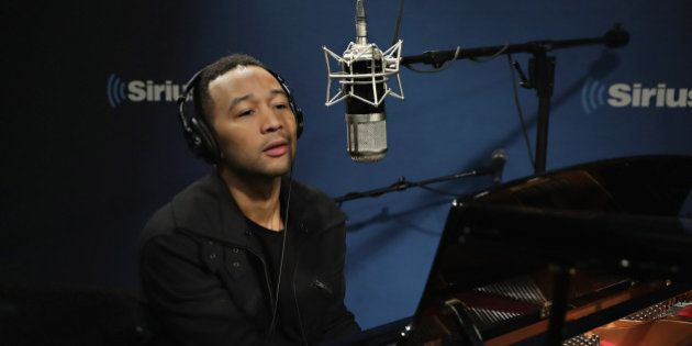 NEW YORK, NY - NOVEMBER 14: Singer John Legend performs during 'The Hoda Show' on Today Show Radio at...