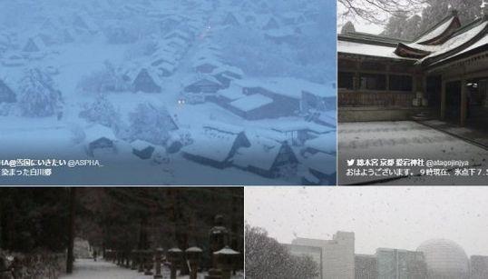 【UPDATE】東京23区でも雪の見込み 東海道新幹線は徐行運転(画像集)