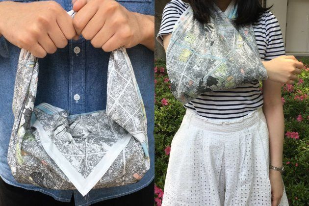 ものを包むなどの普段使いはもちろん、災害で怪我をしたときは手当にも使える