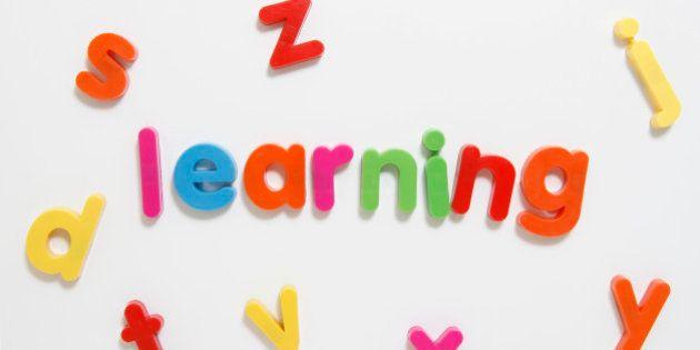 Alphabet fridge magnets spelling