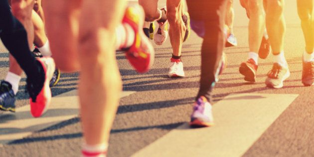 marathon runners on the