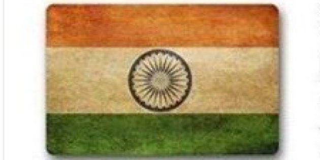 インド国旗を足で踏め?