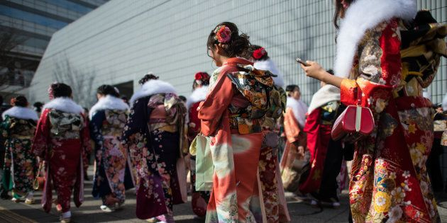 ※写真は、1月8日に開催された横浜市の成人式。一部の新成人に晴れ着が届かないトラブルがありました。