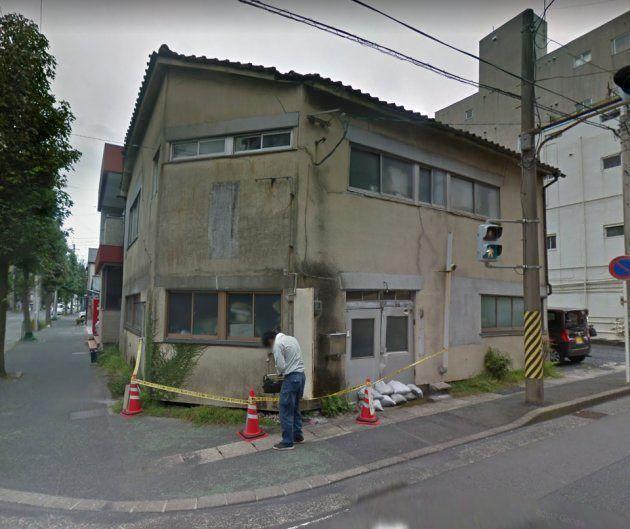 胎児の遺体が見つかった旧病院とみられる建物