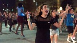 「くたばれ、トランプ!」UCLAで学生1000人以上が反トランプ氏デモ(動画)