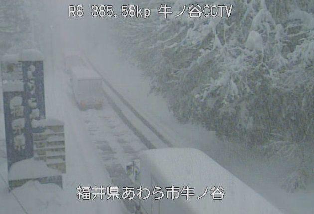 福井市で130cmを超す大雪
