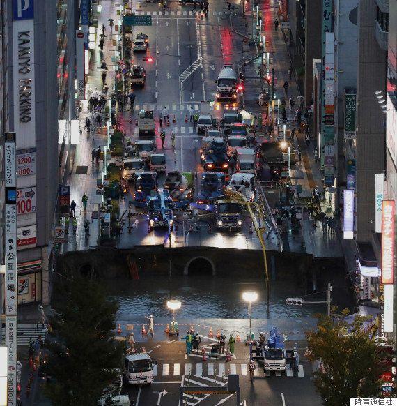 【博多駅前で道路陥没】人命被害は間一髪で防いでいた 復旧作業に少なくとも3日