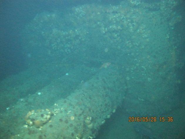 魚雷発射管と見られる部分