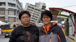 台湾地震、倒壊ビルにいた住民が恐怖を語る「5階が1階になってしまった」