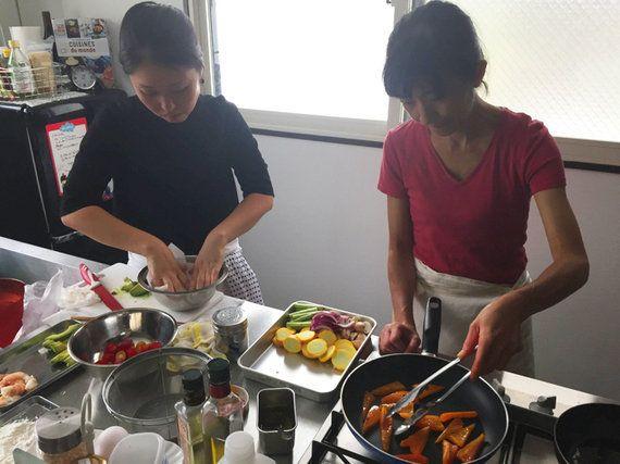 自分の好きな食材で前菜を作ってくれる♡
