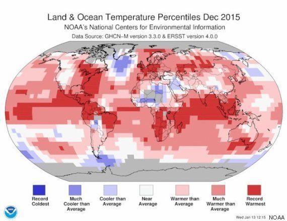 2015年は観測史上、ケタ違いに暑い1年だった