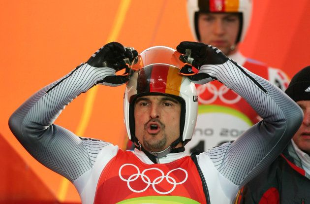 Germany's Georg Hackl competes in the men's singles luge event at the Torino 2006 Winter Olympic Games...
