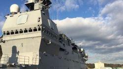 海上自衛隊の最新鋭艦・いずもの内部に入った