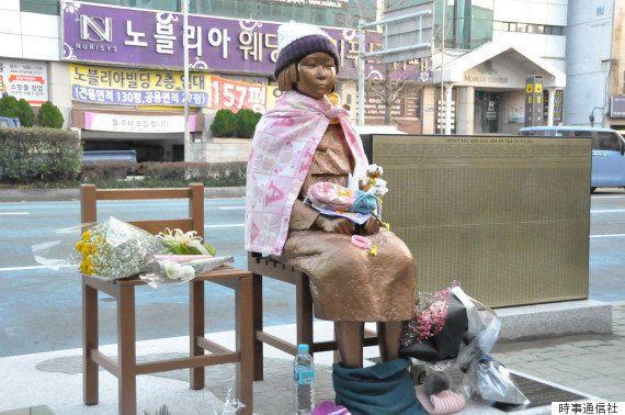 少女像の撤去、安倍首相が要求