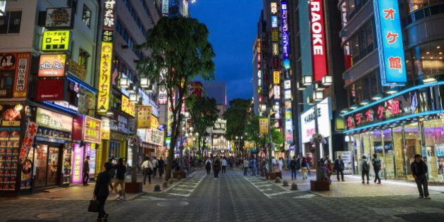 SHINJUKU, TOKYO, JAPAN - 2014/05/15: Kabukicho entertainment and red light district is located in Shinjuku,...