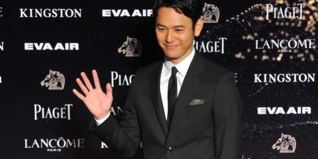 Japan actor Satoshi Tsumabuki arrives ahead of the 52nd Golden Horse Film Awards in Taipei, on November...