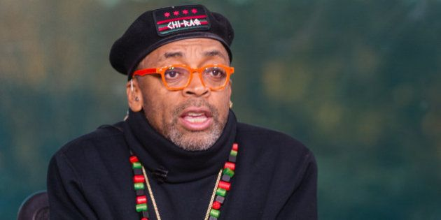 IMAGE DISTRIBUTED FOR TV ONE - Filmmaker Spike Lee on the set of TV One's News One Now discussing his...