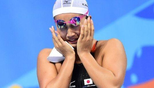 渡部香生子、200平で金メダル 涙を浮かべてゴールの瞬間を語る