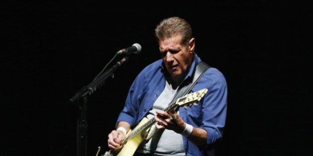 SYDNEY, AUSTRALIA - MARCH 02: Glenn Frey of The Eagles performs live for fans at Qantas Credit Union...