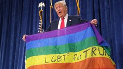 「同性婚は違憲」と主張するトランプ氏、なぜかレインボー・フラッグでLGBT擁護をアピール