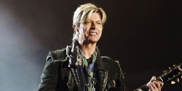 NEWPORT, ENGLAND - JUNE 13: David Bowie performs on stage on the third and final day of 'The Nokia Isle...