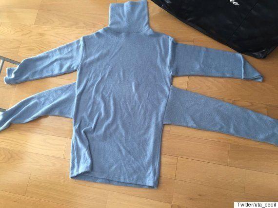 セシルマクビーの福袋から「袖が4つあるニット」