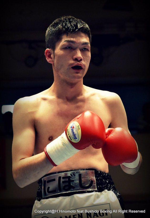 ボクシングの試合に臨む大曽根さん