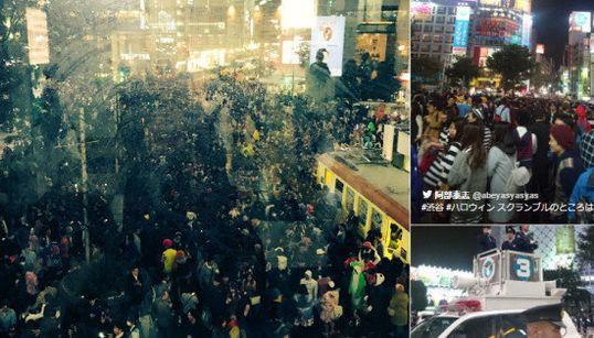 ハロウィン、土曜日の渋谷はお祭り騒ぎ DJポリスに歩行者天国も(画像集)
