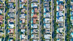 ロサンゼルスを空から撮影したら、貧富の差が写った(画像)