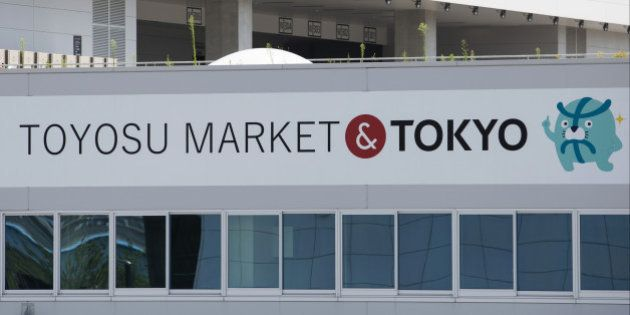 The Toyosu Market stands under construction in Tokyo, Japan, on Wednesday, Aug. 31, 2016. Yuriko Koike,...