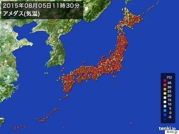 猛暑日 東京新記録 仙台25年ぶり