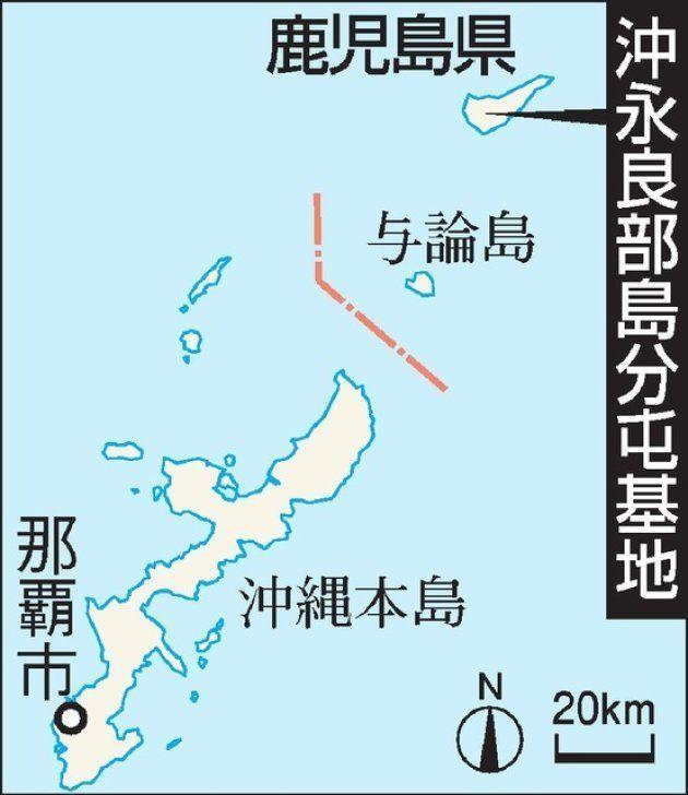 沖永良部島の地図