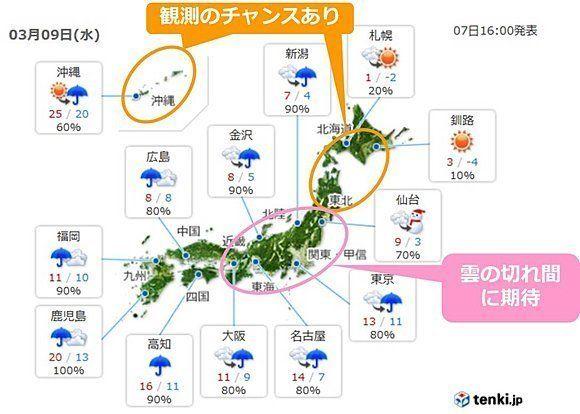 9日は日本全国で部分日食