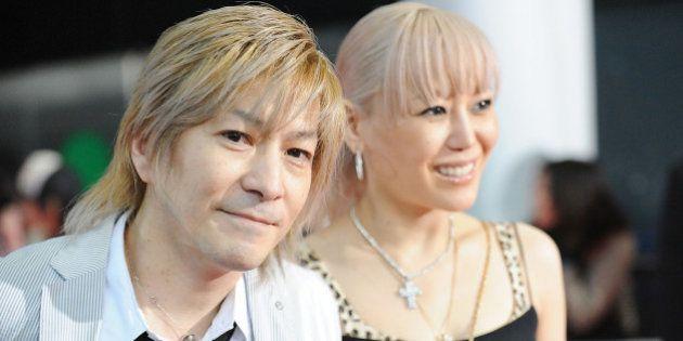 SAITAMA, JAPAN - MAY 31: Musicians Tetsuya Komuro (L) and KEIKO walk the red carpet during the MTV Video...