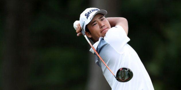 CHARLOTTE, NC - AUGUST 13: Hideki Matsuyama of Japan plays his tee shot on the par 4, 18th hole during...