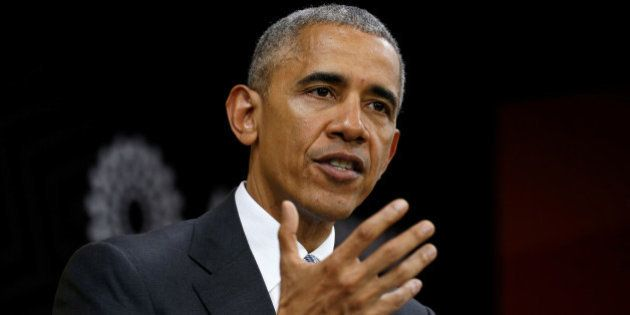 U.S. President Barack Obama holds a press conference at the conclusion of the APEC Summit in Lima, Peru...