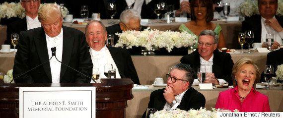クリントン氏、チャリティ晩餐会で自虐スピーチ「史上最年少の女性大統領になる」(全文)