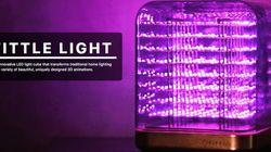 LEDライト「Tittle」で、自分の書いた文字やイラストが浮かびあがる
