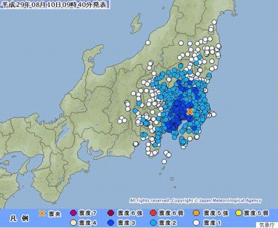 【地震情報】東京23区・埼玉などで震度3 関東の広い範囲で揺れ観測