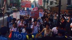 高校生が安保法案反対デモ 「安倍晋三から日本を守れ」と叫ぶ【ティーンズ