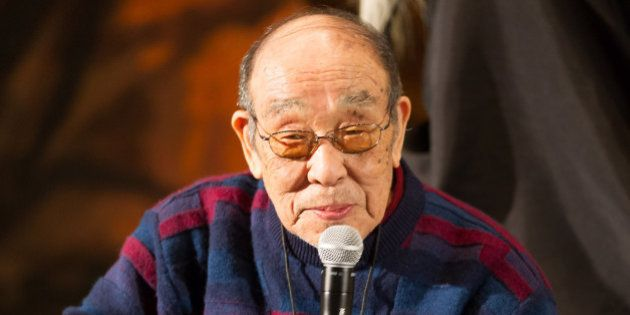 SAN FRANCISCO, CA - FEBRUARY 08: Haruo Nakajima, the original Godzilla, answering audience quiestions...